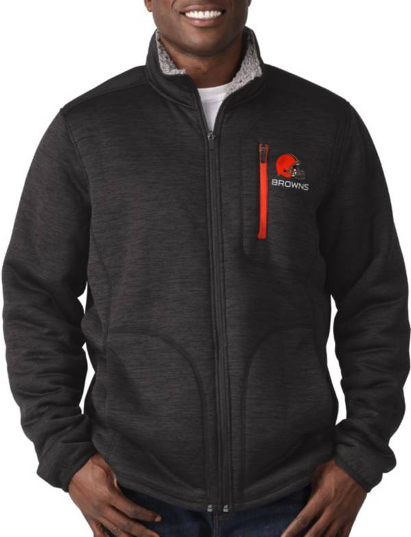 G-III Men's Cleveland Browns Fast Track Black Full-Zip Jacket product image