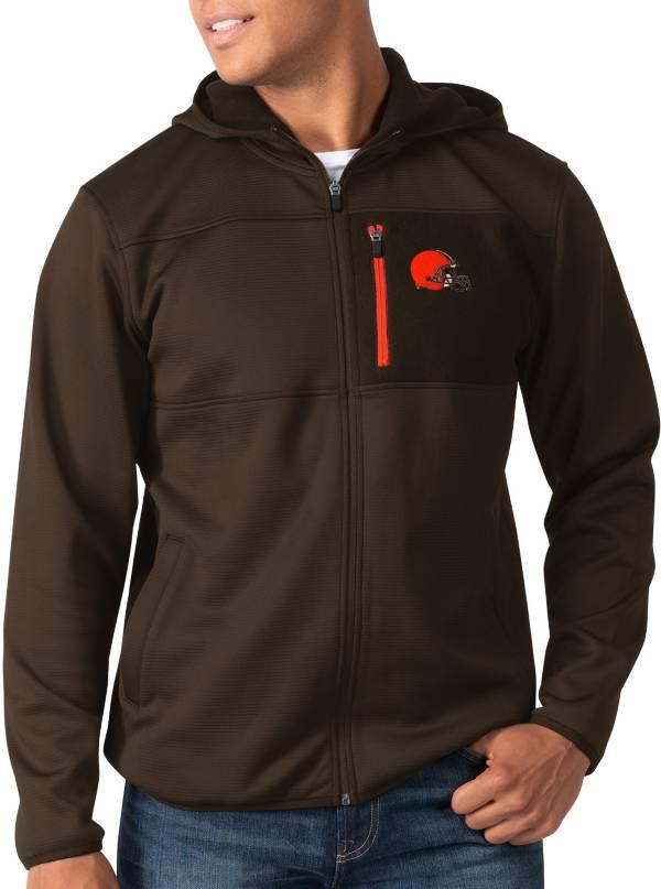 G-III Men's Cleveland Browns Sprint Brown Full-Zip Jacket product image