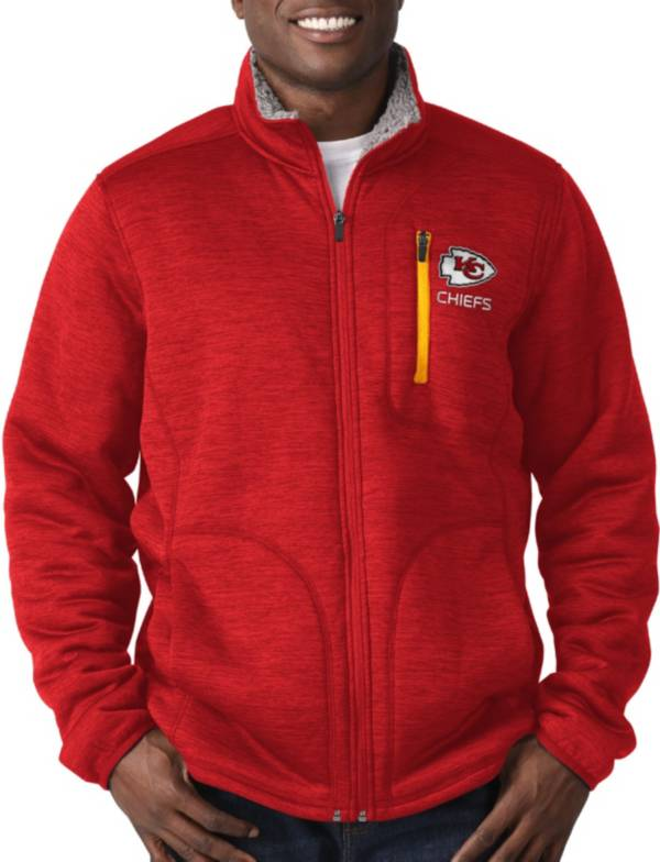 G-III Men's Kansas City Chiefs Fast Track Red Full-Zip Jacket product image