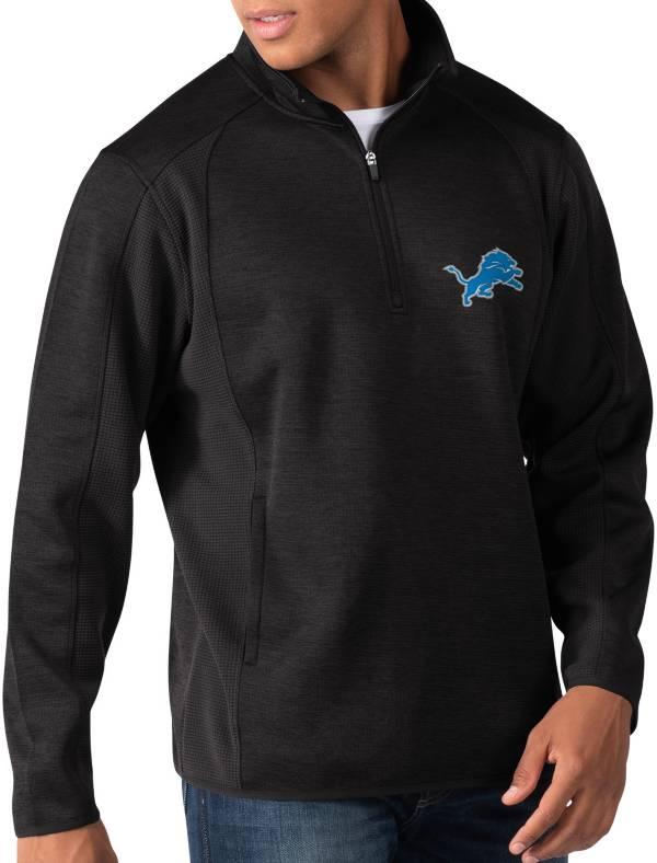 G-III Men's Detroit Lions Peacemaker Black Quarter-Zip Pullover product image