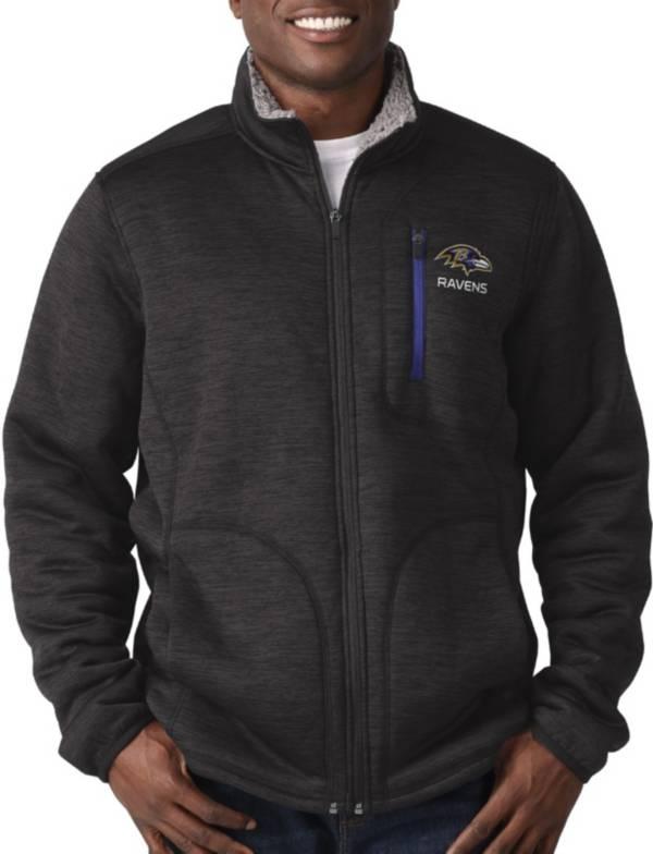 G-III Men's Baltimore Ravens Fast Track Black Full-Zip Jacket product image
