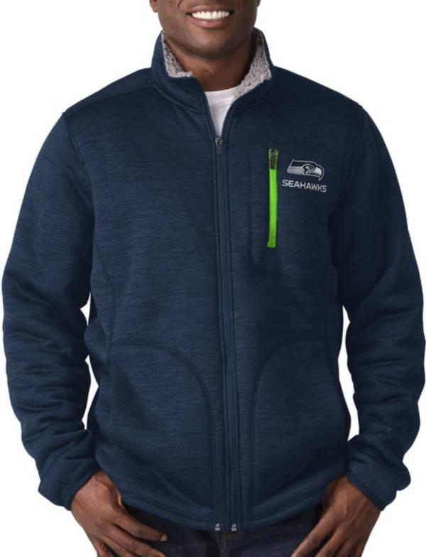 G-III Men's Seattle Seahawks Fast Track Navy Full-Zip Jacket product image