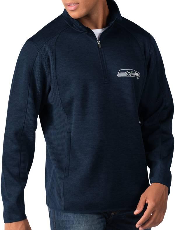 G-III Men's Seattle Seahawks Peacemaker Navy Quarter-Zip Pullover product image
