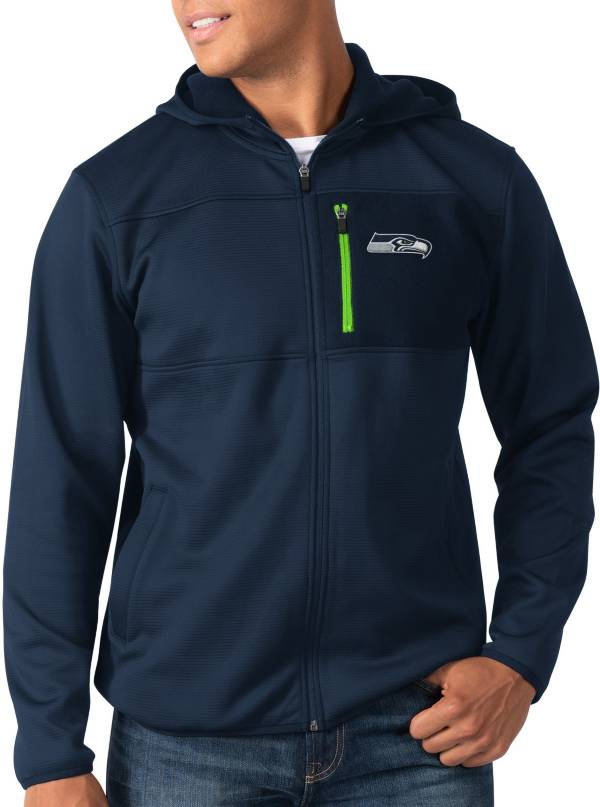 G-III Men's Seattle Seahawks Sprint Navy Full-Zip Jacket product image