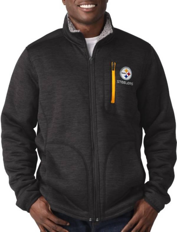 G-III Men's Pittsburgh Steelers Fast Track Black Full-Zip Jacket product image