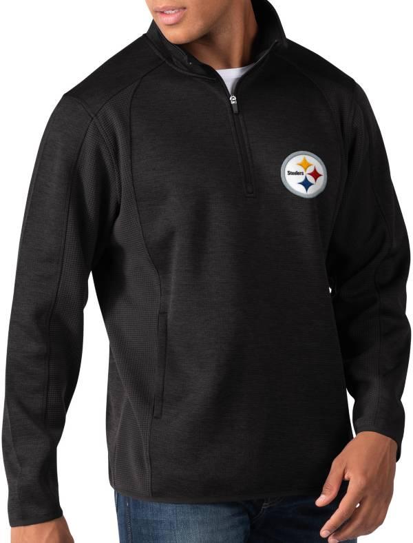 G-III Men's Pittsburgh Steelers Peacemaker Black Quarter-Zip Pullover product image
