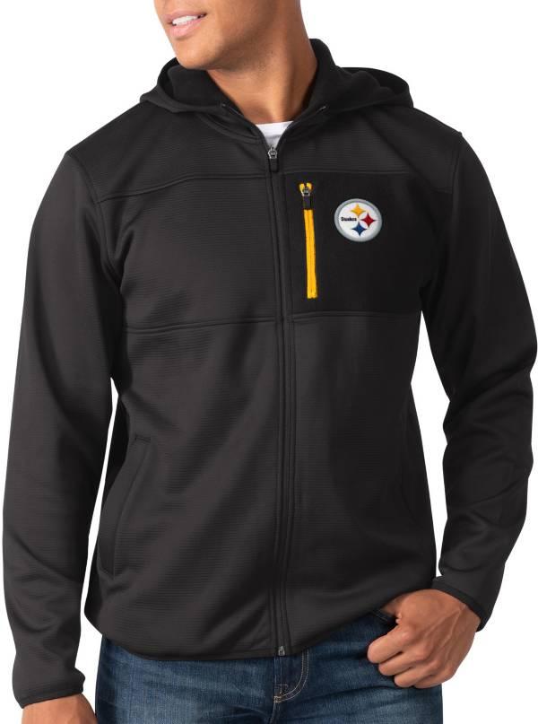 G-III Men's Pittsburgh Steelers Sprint Black Full-Zip Jacket product image