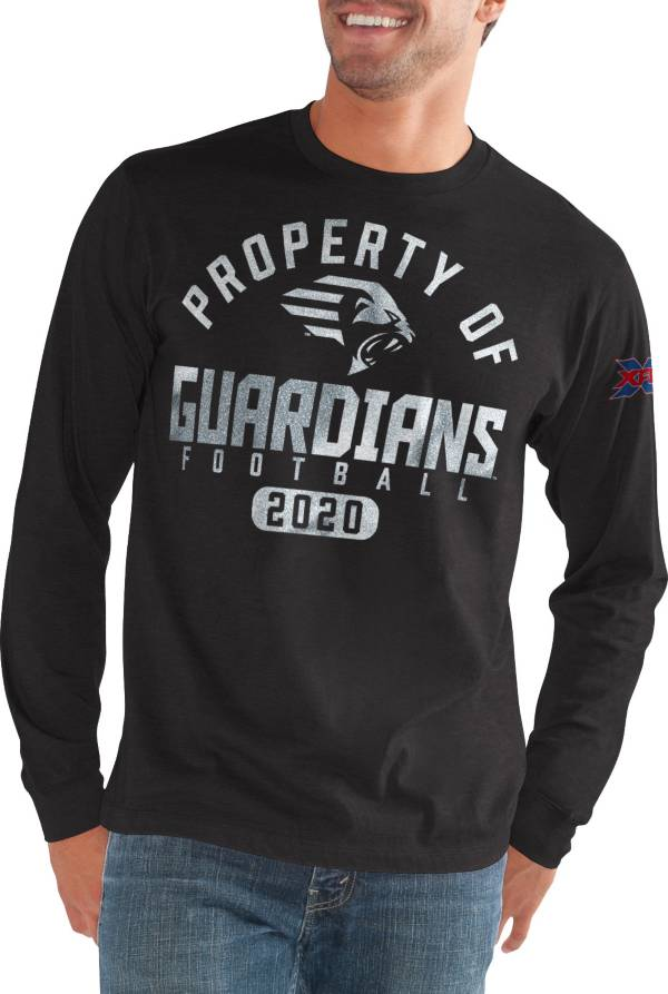 G-III Men's XFL New York Guardians 'Property Of' Long Sleeve Black T-Shirt product image
