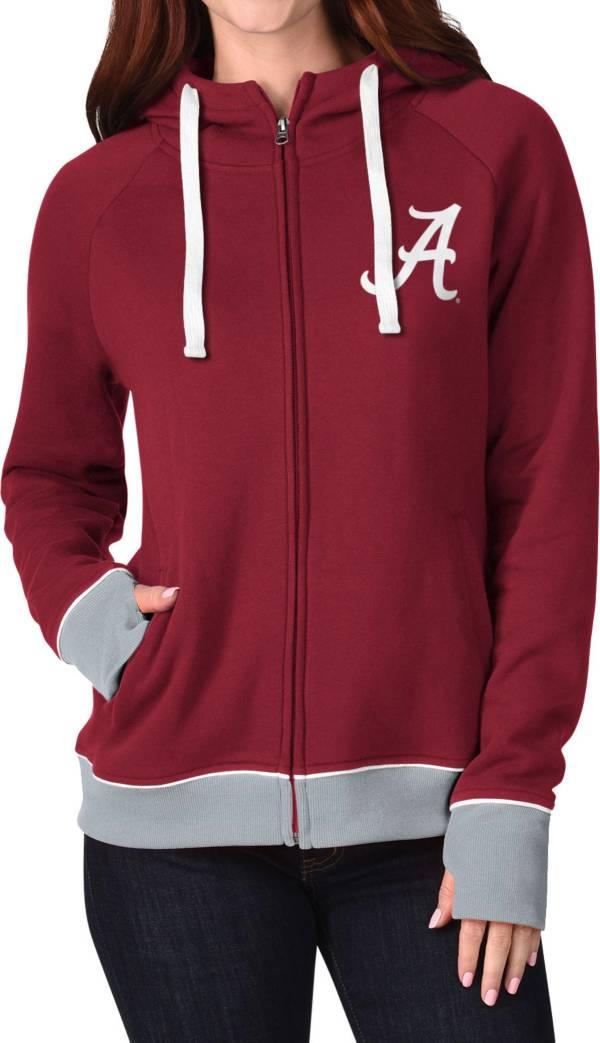 G-III For Her Women's Alabama Crimson Tide Crimson Onside Full-Zip Hoodie product image