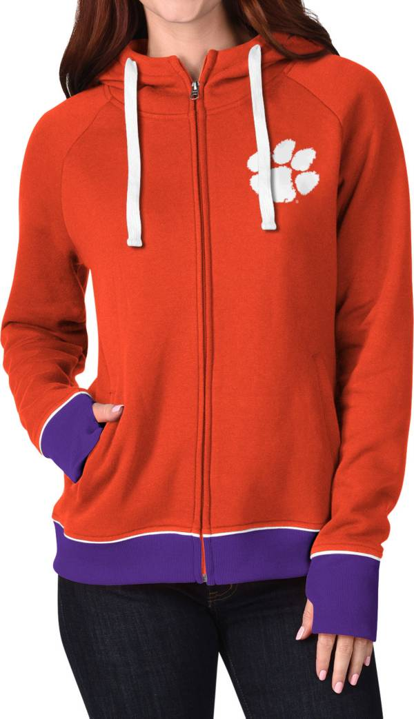 G-III For Her Women's Clemson Tigers Orange Onside Full-Zip Hoodie product image