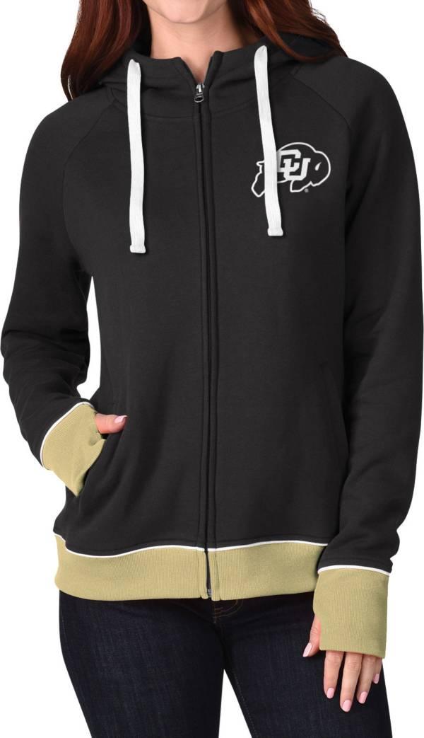 G-III For Her Women's Colorado Buffaloes Onside Full-Zip Black Hoodie product image