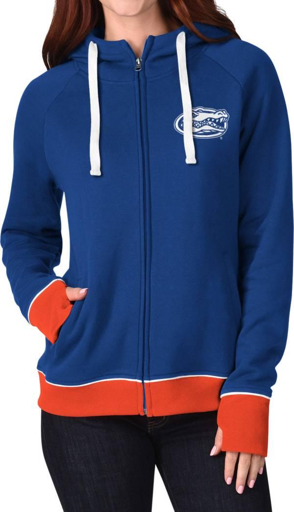 G-III For Her Women's Florida Gators Blue Onside Full-Zip Hoodie product image
