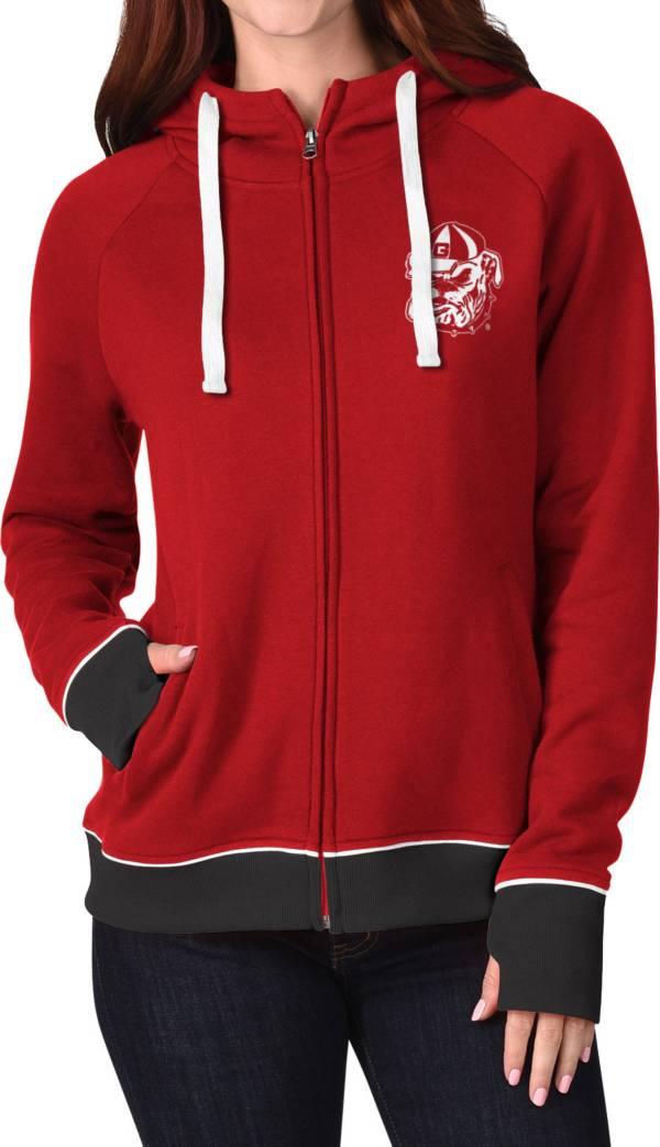 G-III For Her Women's Georgia Bulldogs Red Onside Full-Zip Hoodie product image