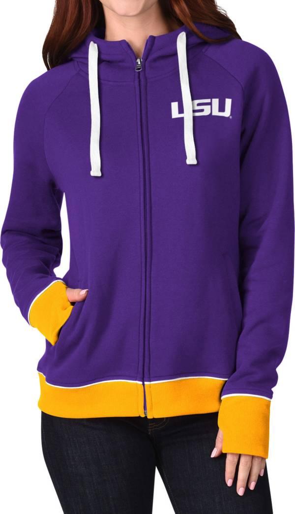 G-III For Her Women's LSU Tigers Purple Onside Full-Zip Hoodie product image