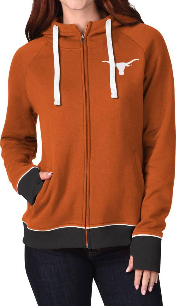 G-III For Her Women's Texas Longhorns Burnt Orange Onside Full-Zip Hoodie product image