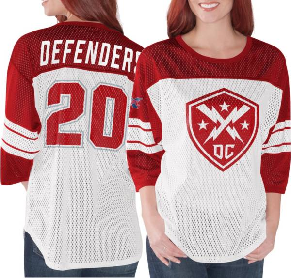 G-III Women's XFL DC Defenders Mesh Red Jersey Top product image