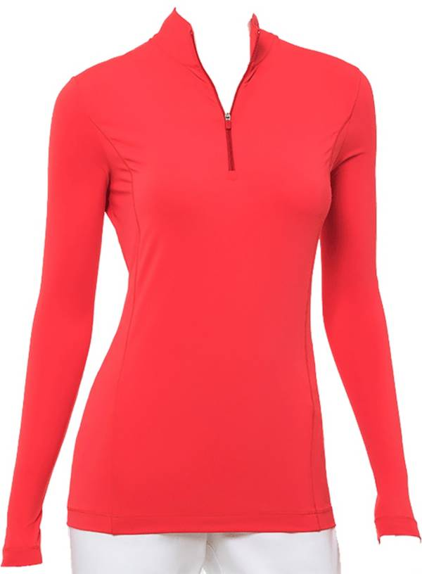 EP Pro Women's Zip Mock Long Sleeve Golf Polo product image