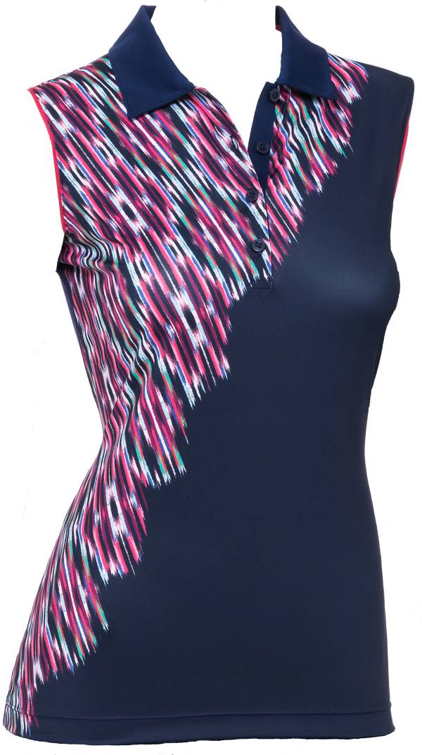 EP Pro Women's Ikat Print Sleeveless Golf Polo product image