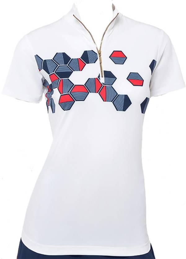 EPNY Women's Mock Neck Short Sleeve Golf Polo product image