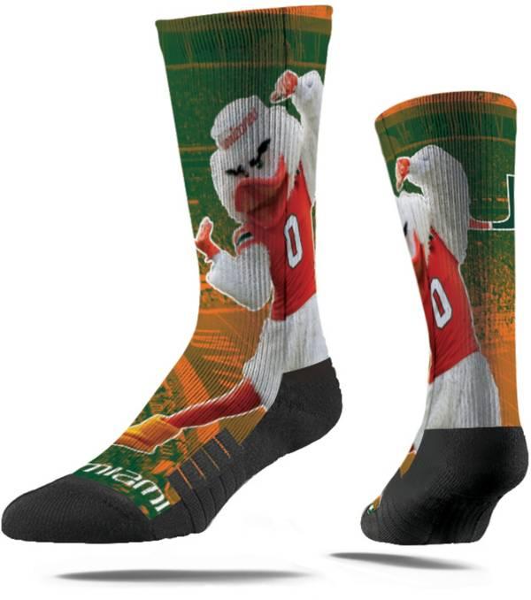 Strideline Miami Hurricanes Mascot Crew Socks product image