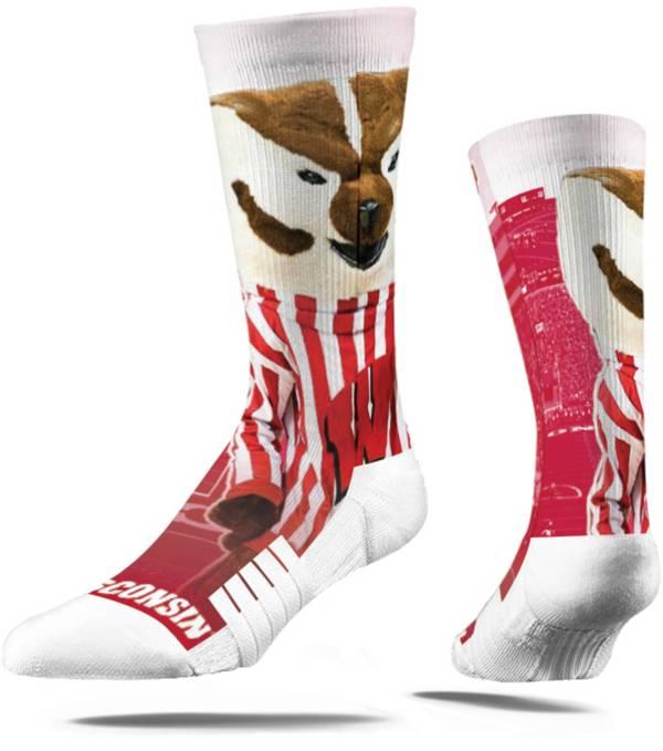Strideline Wisconsin Badgers Mascot Crew Socks product image