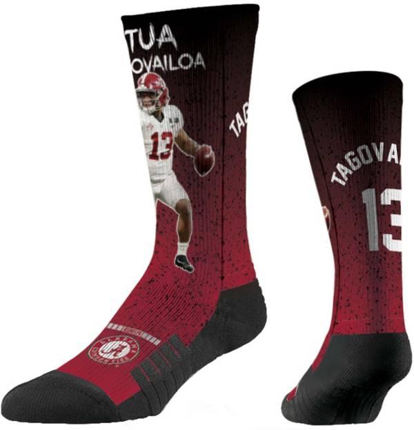 Strideline Alabama Crimson Tide Tua Tagovailoa Throw Crew Socks product image