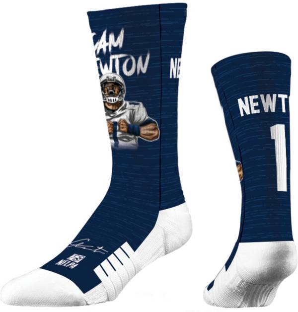 Strideline New England Patriots Cam Newton #1 Action Crew Socks product image