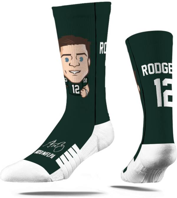 Strideline Youth Green Bay Packers Aaron Rodgers Emoji Socks product image