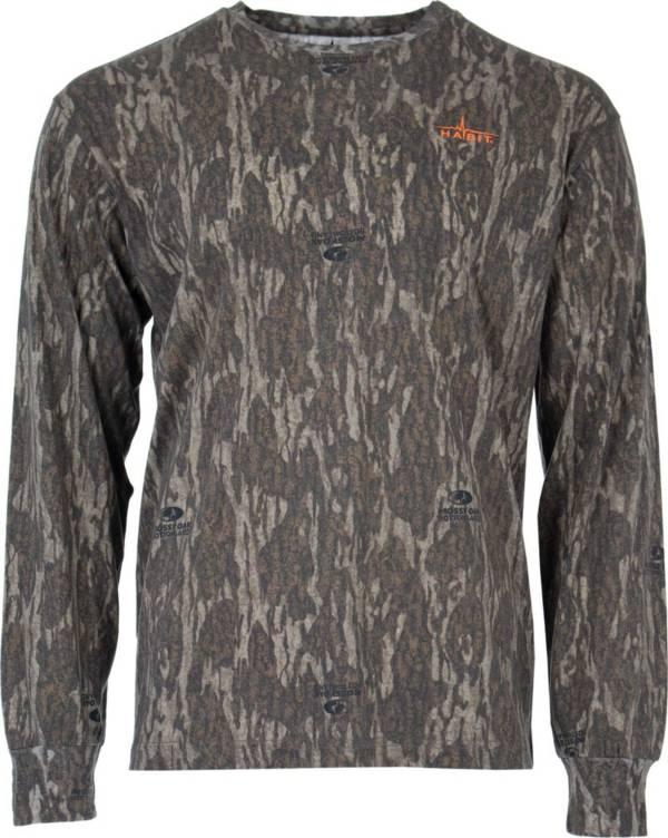 Habit Men's Bear Cave Camo Long Sleeve Hunting T-Shirt product image