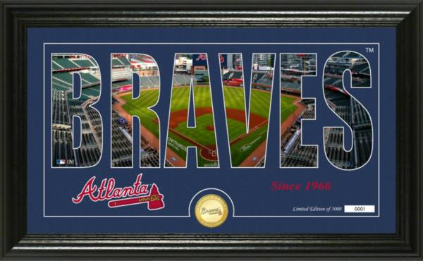 Highland Mint Atlanta Braves Silhoutte Panoramic Photo Mint product image