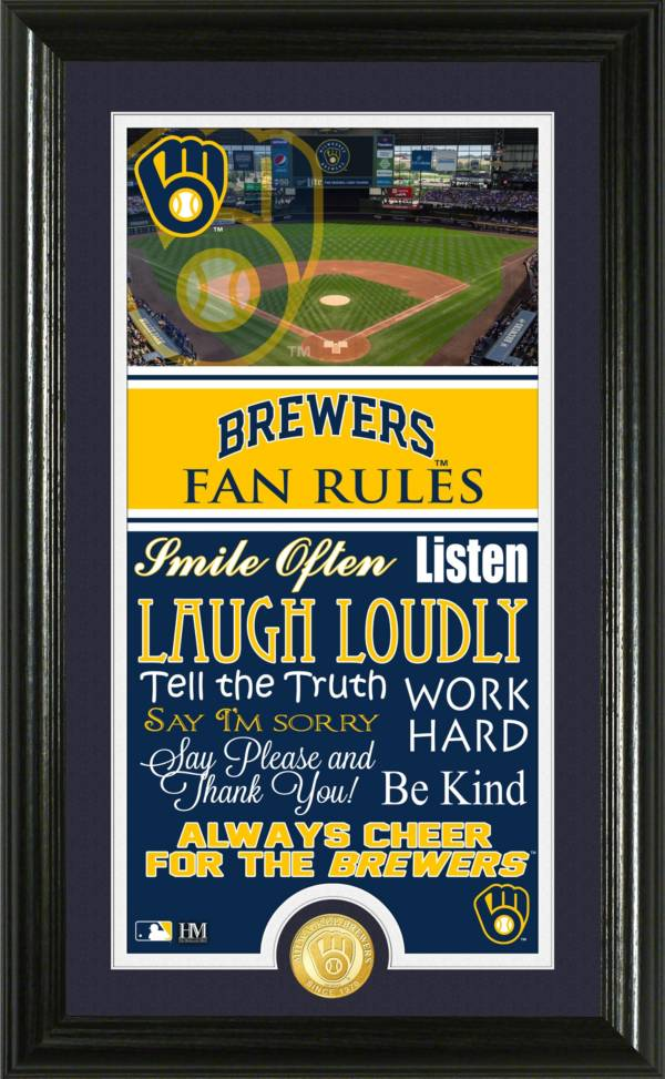 Highland Mint Milwaukee Brewers Fan Rules Coin Photo Mint product image