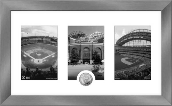 Highland Mint Milwaukee Brewers Art Deco Silver Coin Photo Mint product image
