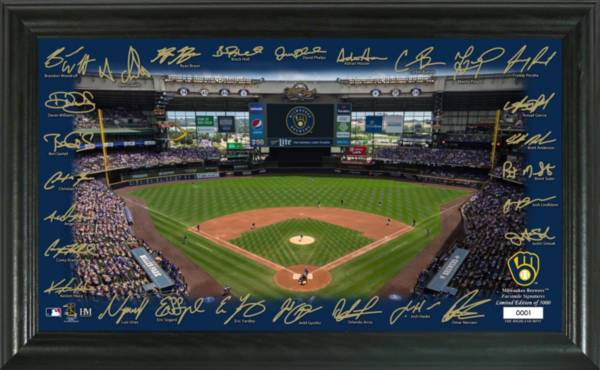 Highland Mint Milwaukee Brewers 2020 Signature Field Photo Frame product image