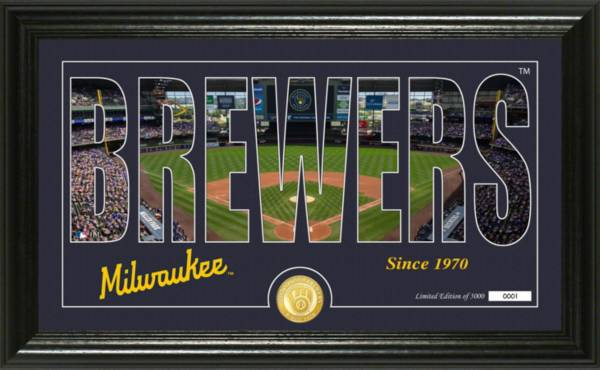 Highland Mint Milwaukee Brewers Silhoutte Panoramic Photo Mint product image