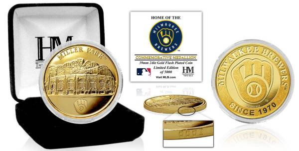 Highland Mint Milwaukee Brewers Stadium Gold Coin product image