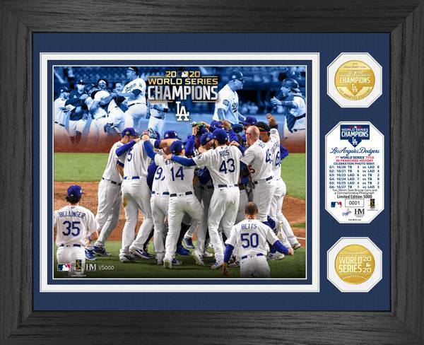 Highland Mint 2020 World Series Champions Los Angeles Dodgers Celebration Bronze Coin Photo Mint product image