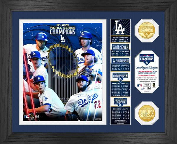 Highland Mint 2020 World Series Champions Los Angeles Dodgers Banner Bronze Coin Photo Mint product image