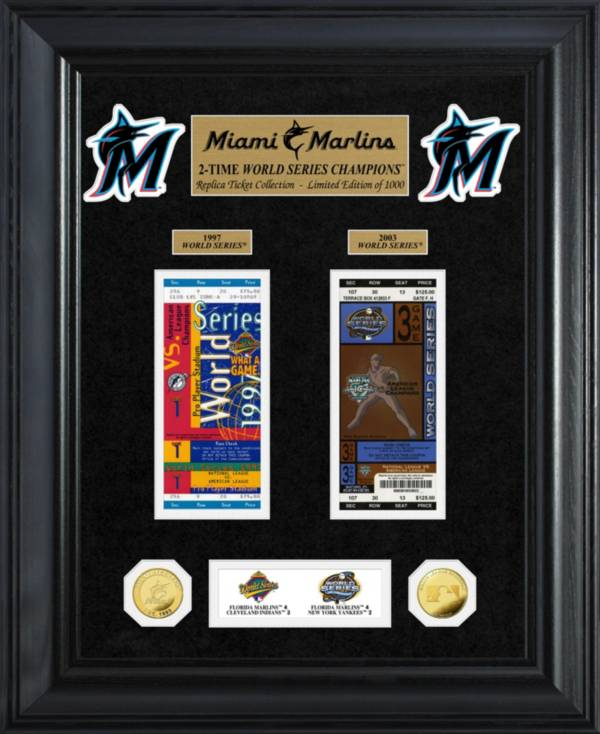 Highland Mint Miami Marlins Deluxe Ticket Frame product image