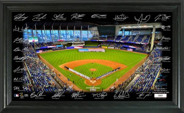 Highland Mint Miami Marlins 2020 Signature Field Photo Frame product image