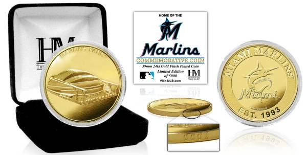 Highland Mint Miami Marlins Stadium Gold Coin product image