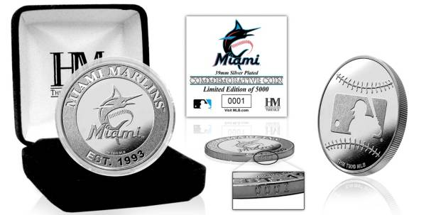 Highland Mint Miami Marlins Silver Team Coin product image