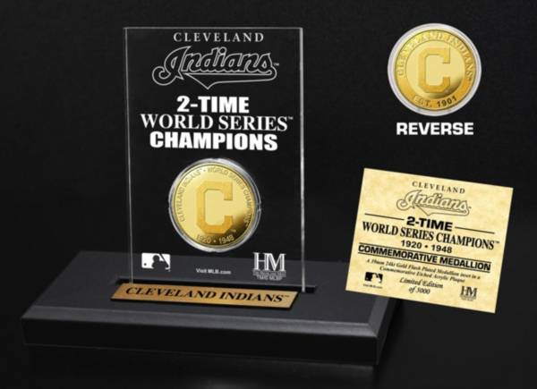 Highland Mint Cleveland Indians Multi Champion Coin Printed Acrylic Display product image