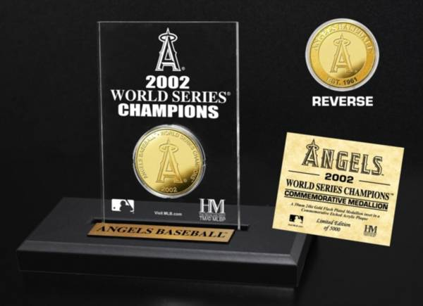 Highland Mint Los Angeles Angels Multi Champion Coin Printed Acrylic Display product image