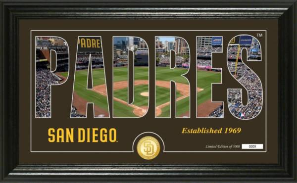 Highland Mint San Diego Padres Silhoutte Panoramic Photo Mint product image