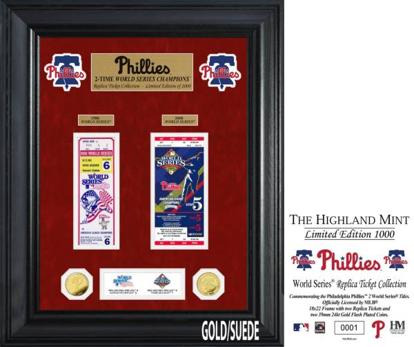 Highland Mint Philadelphia Phillies Deluxe Ticket Frame product image