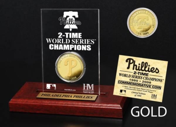 Highland Mint Philadelphia Phillies Multi Champion Coin Printed Acrylic Display product image