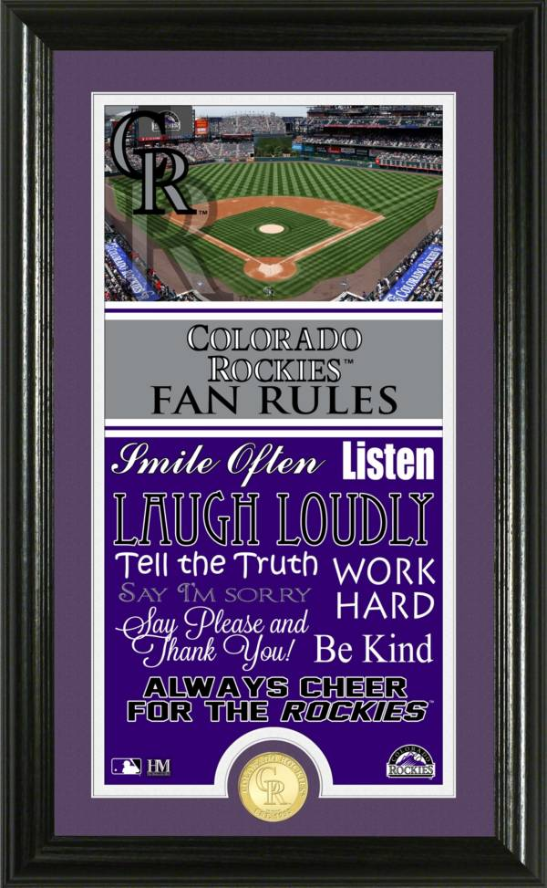 Highland Mint Colorado Rockies Fan Rules Coin Photo Mint product image