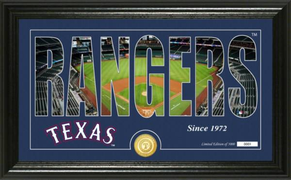 Highland Mint Texas Rangers Silhoutte Panoramic Photo Mint product image