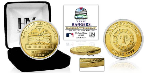 Highland Mint Texas Rangers Stadium Gold Coin product image