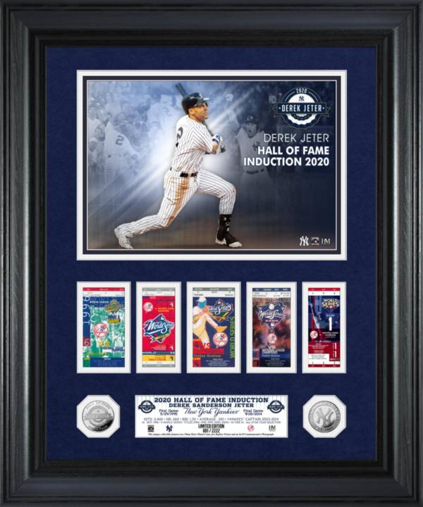 Highland Mint New York Yankees Derek Jeter Hall of Fame 2020 World Series Marquee Silver Coin Photo Mint product image